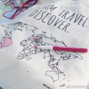 Linnen tas 'Colour your world'