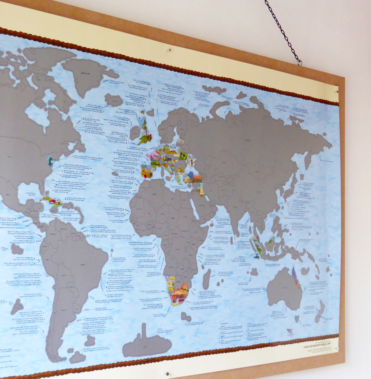 Bucket list World map poster | Awesome bucketlist Scratch map