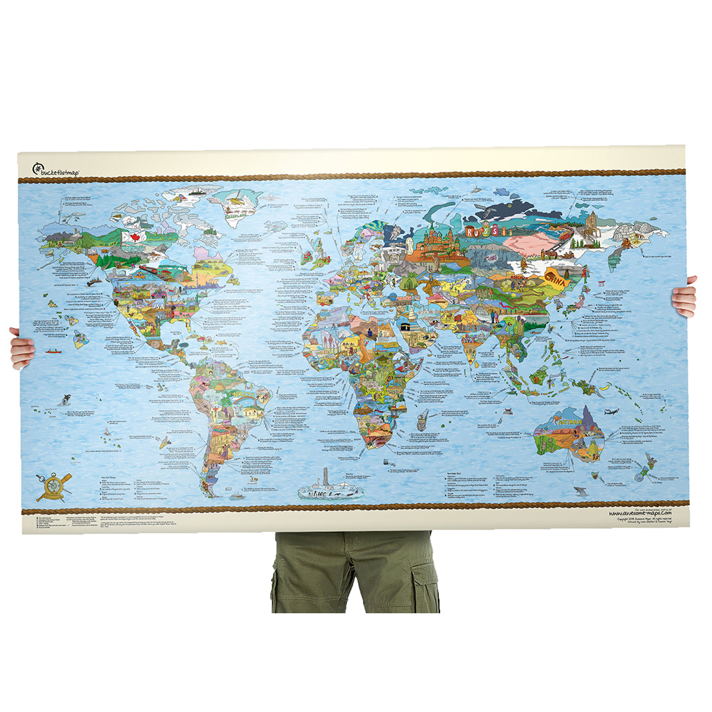 Bucket list World map poster – Scratch Travel Map Of The World