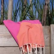 fouta-nice-oranje roze