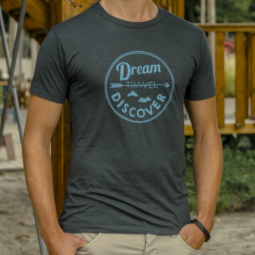 Heren reis t-shirt Dream Travel Discover