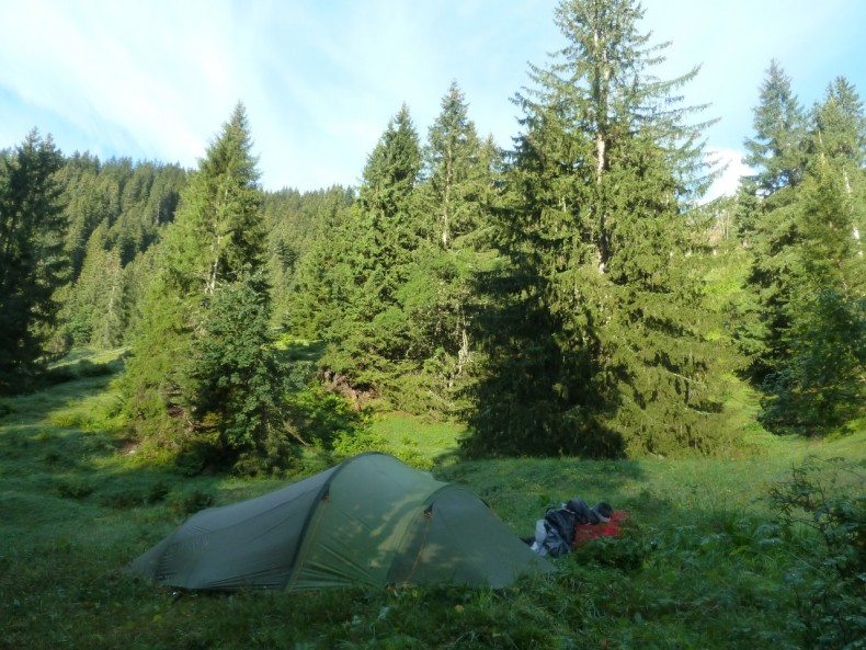 Campingin the Swissforests