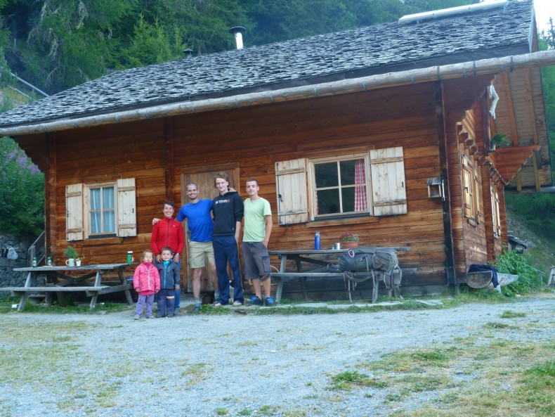 Spending the night with an Italian farming family in their mountain cabin
