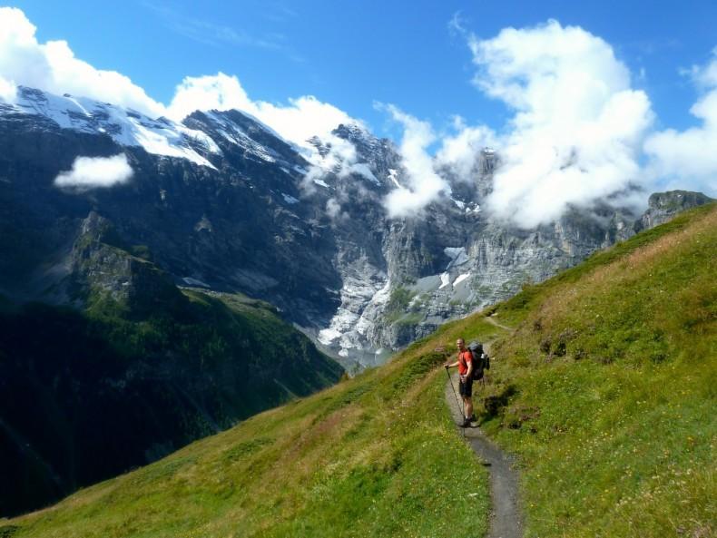 A walk along theJungfrau in Switzerland