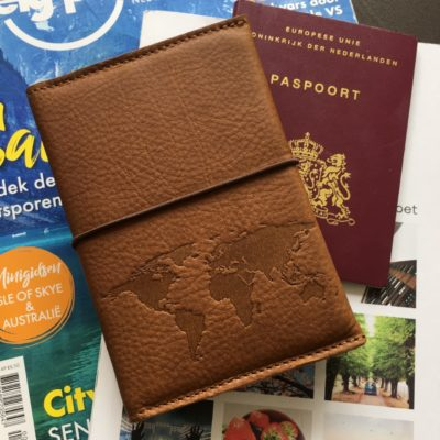 Leather passport cover deluxe