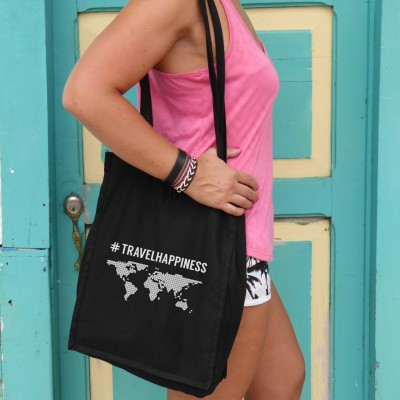 Canvas bag 'Travelhappiness'