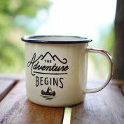 enamel mug adventure travel