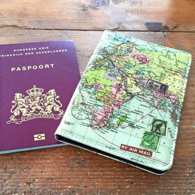 Passport case 'World map'
