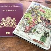 passport case world map
