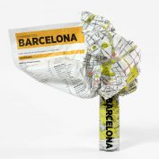 Crumpled-map-Barcelona