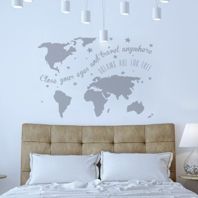 Wall sticker world map: Dreams