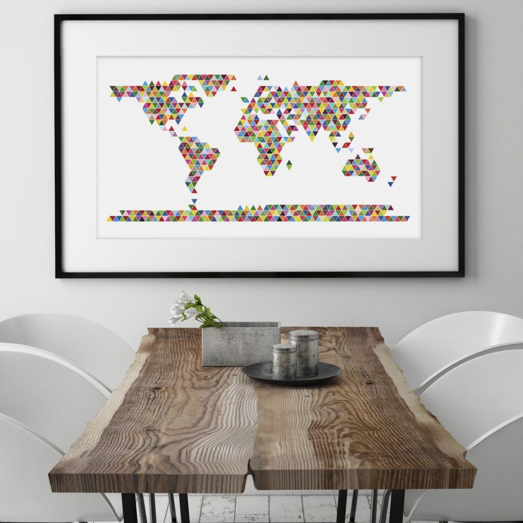 world-map-poster-triangle