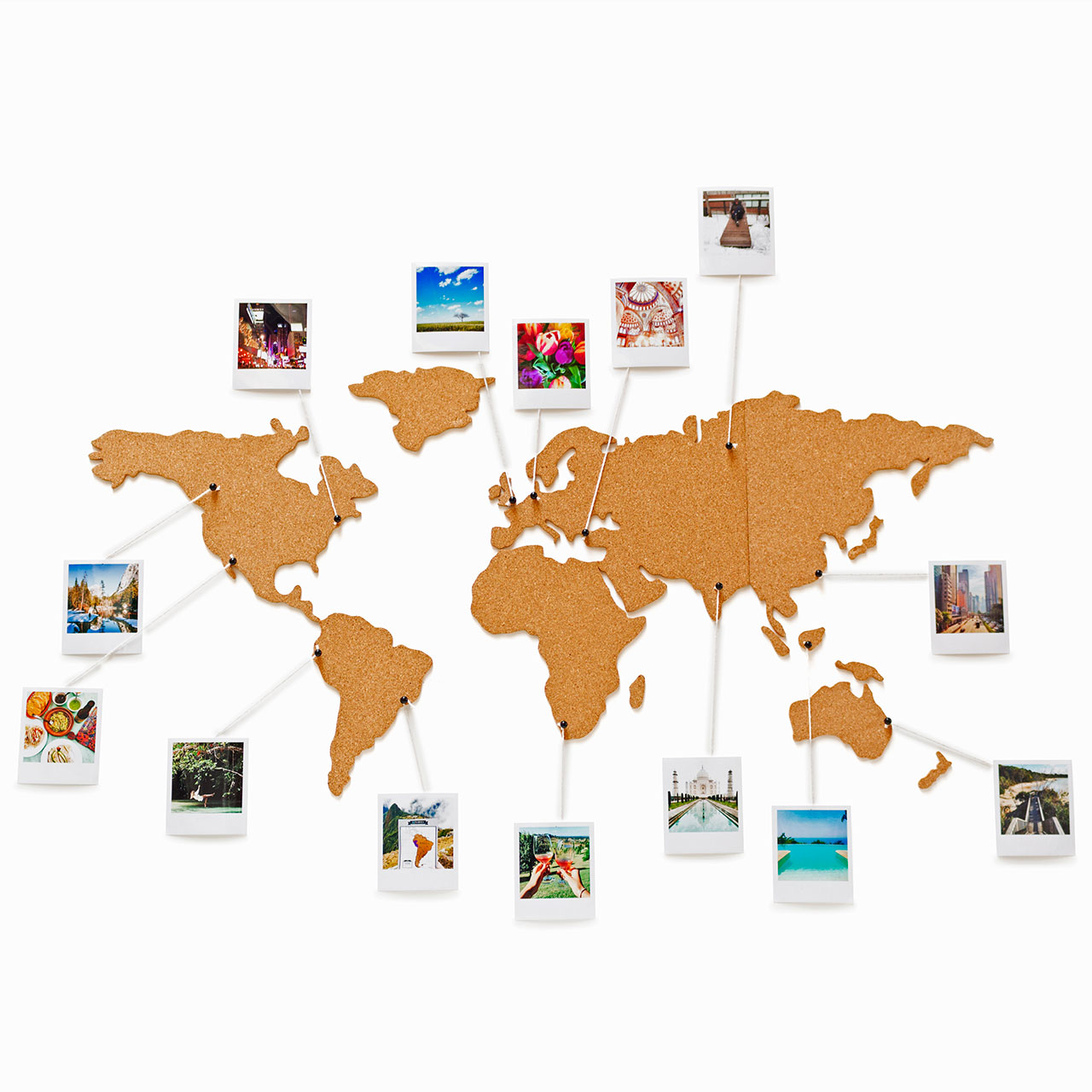 Corkboard world map – Cork Board World Travel Map