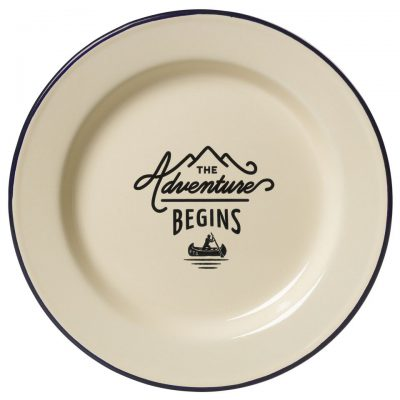 Enamel plate 'Adventure begins'