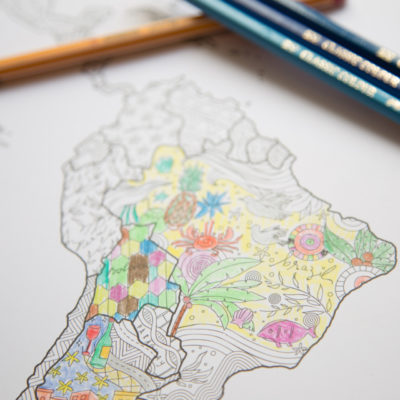 Coloring map: color in world map