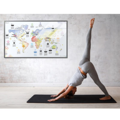 Yoga map: world map for yoga trips