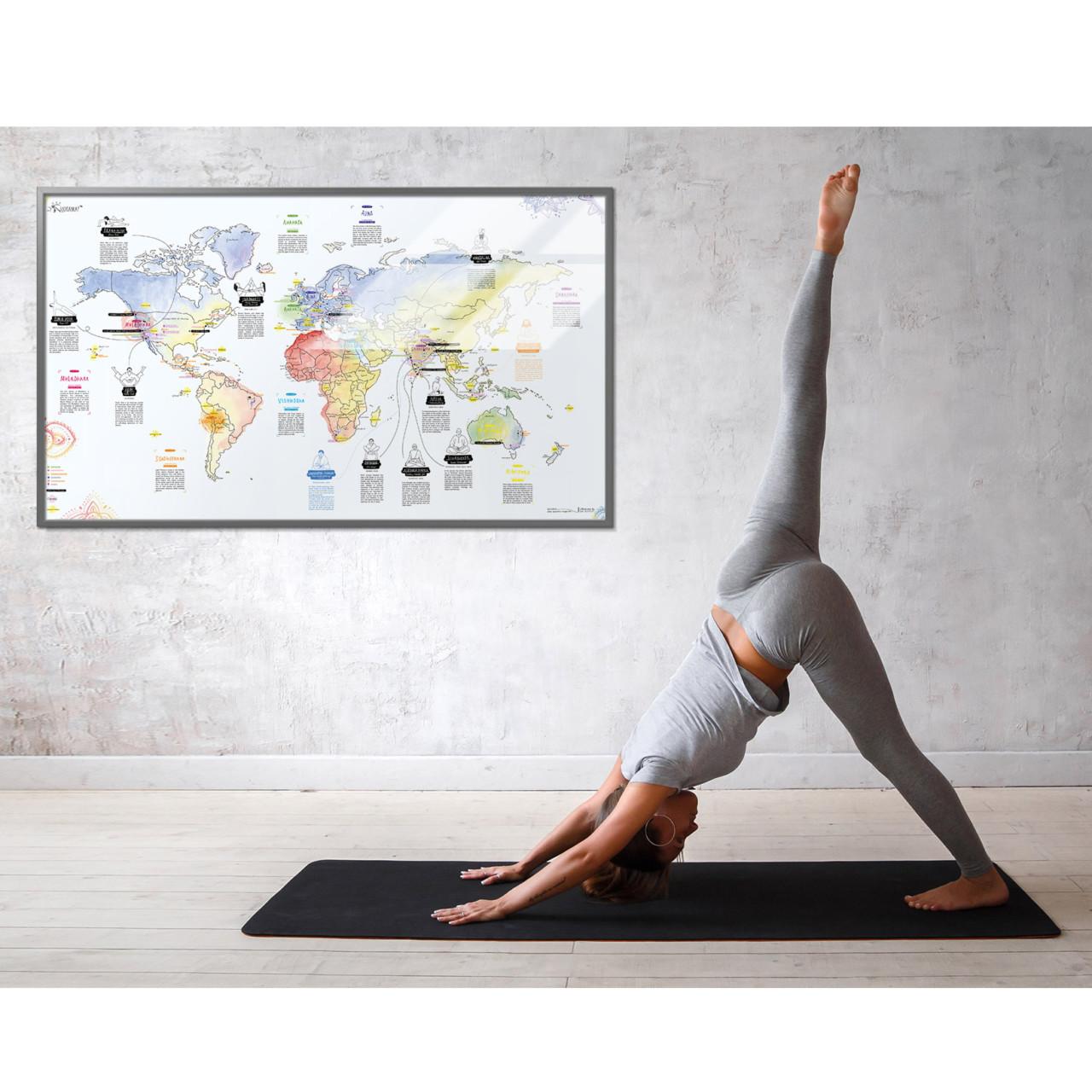Yoga holiday every yoga hotspot in one world map traveling duthies world map yoga gumiabroncs Choice Image