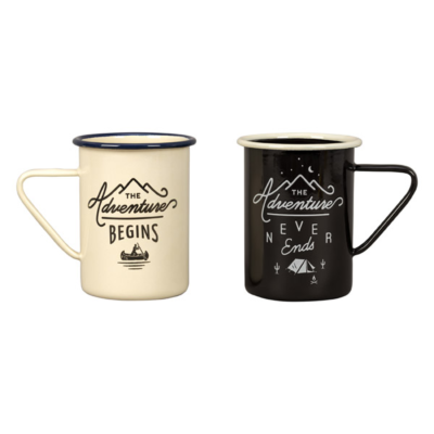 Enamel mug set 'adventure'